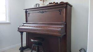 Heintzman Grand Piano in Upright Form