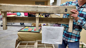 Pallet Towel Rack/Shelf