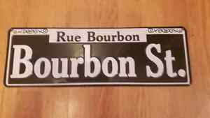 Bourbon St. Street sign