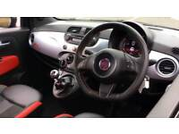 2015 Fiat 500 1.2 S Black Alloys and Bluetoo Manual Petrol Hatchback