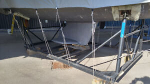 Sailboat steel cradle for Catalina 320.
