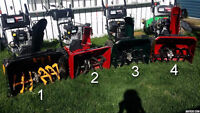 Craftsman snow blowers for sale!