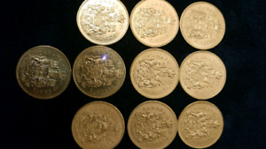 Fifty cent ($0.50) Canadian coins