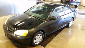 2001 Honda Civic Coupe (2 door) FRESH SAFETY hail damage 5spd