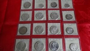 Canadian Coin Collection. Lot of 35 Graded Canadian Coins