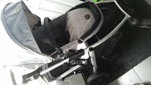 Silver Britax B Ready Stroller with Second Seat