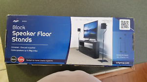 AVF Set of 2 EAK85BA Black Speaker Floor Stands