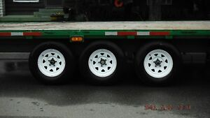 Flat Deck 5th wheel Tri-axle Prince George British Columbia image 3