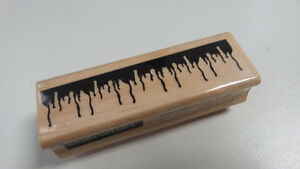 Blood Drip - Icicles rubber stamp - new