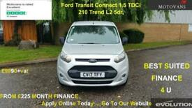 2017 Ford Transit Connect 1.5, 210 Trend, LWB,100K, EURO 6 - 1 OWNER, FSH, 1YR M