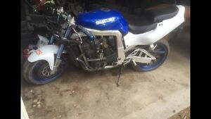 GSXR 750 motor and frame