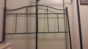 Bed frame and metal headboard. $65 each or both $1