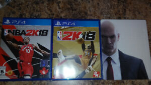 Ps4 game for sale Nba 2k18 x2 and hitman