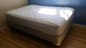 Double Size Beauty Rest Mattress w/ Box Spring & Steel bed Frame