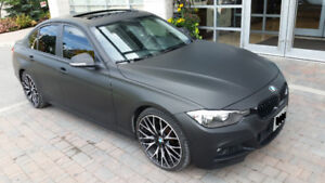 BMW 3 Series Matte Black with M PACKAGE Upgrades