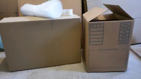 House Move Kit Boxes Cardboard Bubblewrap Tape Lot