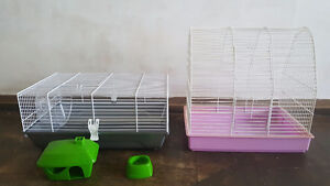 Hamster Cage with accessories and Bird Cage