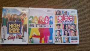 Wii singing games   $20Take all 3 for $20