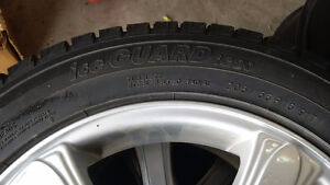 4 Winter tires and rims 205/55/r16 5-108 5-100 bolt Kitchener / Waterloo Kitchener Area image 5