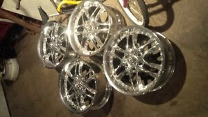 "20"" american racing rims chevy 6 bolt"