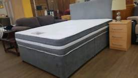 Double Banbury bed set includes Divan Base and mattress all Brand new