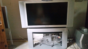 "42"" 1080p LCD Panasonic TV and stand"