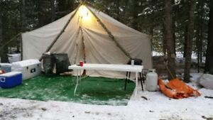 Norseman hunting or trappers tent & Norseman Tent | Kijiji in Red Deer. - Buy Sell u0026 Save with ...