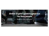 Online English Speaking Practice for Busy People - 15 minute appointments midday and evenings