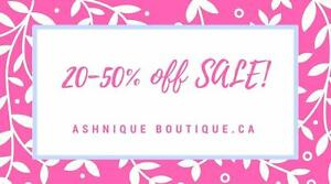 Reduced Prices at Ashnique Boutique! 20-50% OFF! And FREE SHIPPING