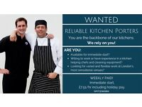 Flexible Shifts for Great Kitchen Porters!