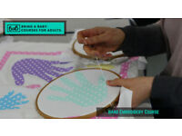Bring a Baby Hand Embroidery Course for Parents