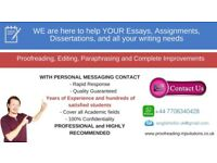 FAST QUALITY LOCAL PROOFREADING/EDITING/COPY-EDITING (with personal messaging contact)