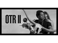 2 x BEYONCE AND JAY Z OTR2 - SEATED TICKETS - MANCHESTER - 13 JUNE 2018