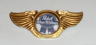 Pabst Blue Ribbon Beer Bar Concert Brew Biker Wing Vest Hat Jacket Pin Badge PB