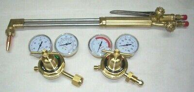 21 Acetylene Cutting Torch W Tip Oxy-fuel Regulator Set Cga 510 Fits Victor