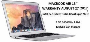 MACBOOK AIR 13 i5 1.6GHZ 4GB 128GB WARRANTY UNTIL 27 AUGUST 2017 + OFFICE PRO 2016+ FINAL CUT PRO X+ LOGIC PRO X