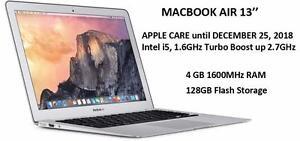 MACBOOK AIR 13 2015-early i5 1.6GHZ 4GB 128GB APPLE CARE 25 DECEMBER 2018 OFFICE PRO 2016,FINAL CUT PRO X, LOGIC PRO X