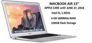 MACBOOK AIR 13 i5 1.4GHZ 4GB 128GB APPLE CARE June 27,2018 + MC.OFFICE PRO 2016+FINAL CUT PRO X+LOGIC PRO X