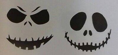 2 x pumpkin face sheets  Halloween Wall art decal stencils  ](Halloween 2 Pumpkin Stencil)