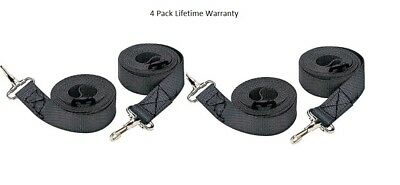 Bimini Top Straps 4 Pack Black Tough Marpac Adjustable Straps Marine 7-0029 New