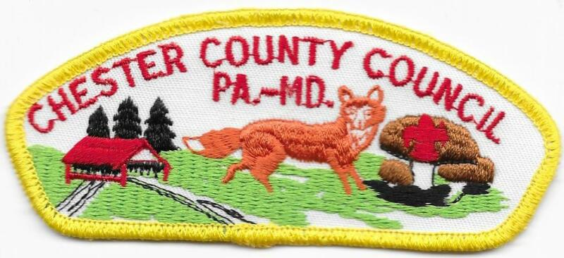 Chester County Council Strip Plastic Back CSP SAP Boy Scout of America BSA