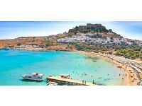 Two Return Flights Birmingham to Greece, Rhodes. 17th-24th July. (£130 each)