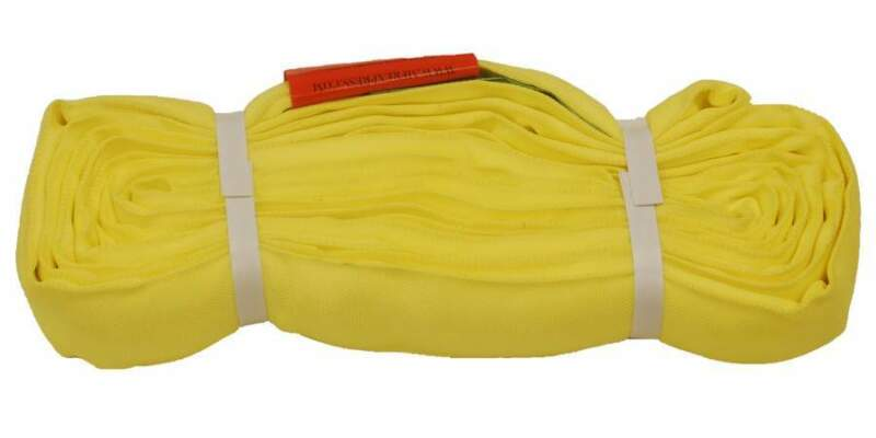 8Ft Endless Yellow Round Sling 9000LB Vertical