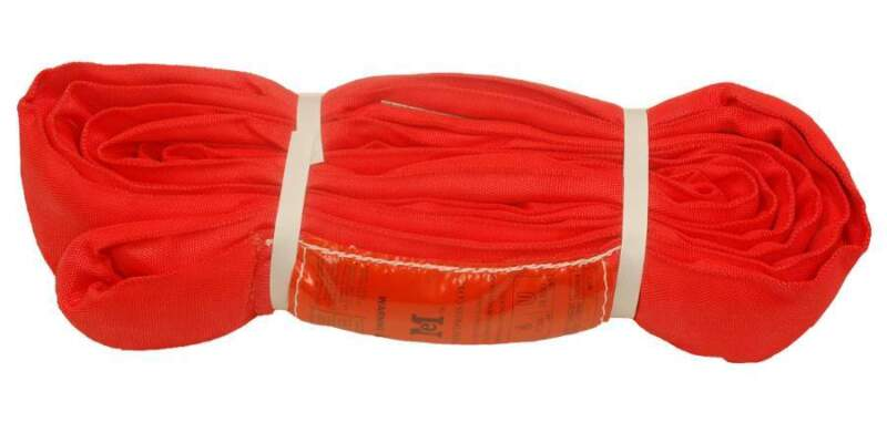 8Ft Endless Red Round Sling 14000LB Vertical