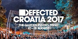 Two tickets to Defected Croatia Festival 2017. 10th to the 15th of August, Tisno Croatia