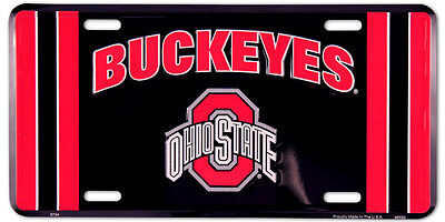 OHIO STATE BUCKEYES CAR TRUCK TAG LICENSE PLATE OHIO STATE BUCKEYES METAL SIGN