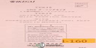 Ikegai Tur30 Nc Lathes Tooling Manual Year 2006