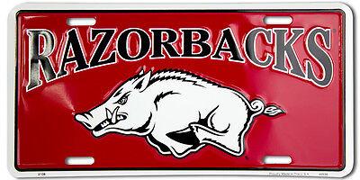 ARKANSAS RAZORBACKS CAR TRUCK TAG LICENSE PLATE ARKANSAS RAZORBACKS SIGN (Arkansas Razorbacks Car)