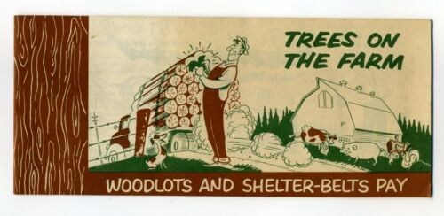 TREES ON THE FARM WOODLOTS AND SHELTER-BELTS PAY CIBC 1950s Booklet for Farmers