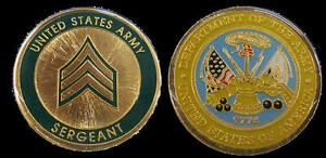 US ARMY SERGEANT RANK CHALLENGE COIN MILITARY COLLECTIBLE COINS
